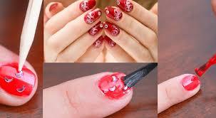 rhinestone nail art step by step tutorial designs