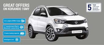 new ssangyong korando in sheffield south yorkshire grant u0026 mcallin