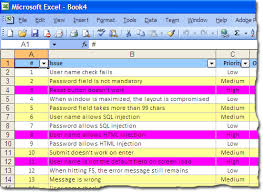 Issue Tracking Excel Template Yipes Stripes Color Coded Rows In Excel Electrovoid