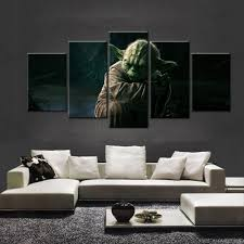 online get cheap master paintings aliexpress com alibaba group 5 pieces movie star wars master yoda home wall decor painting canvas art hd print painting canvas wall picture for home decor