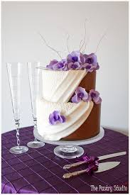 studio his and hers half white half chocolate wedding cake his hers from the