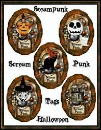 scream punk whimsical halloween steampunk tags u print digital