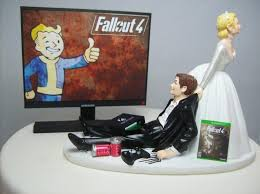 gamer cake topper fall 4 wedding cake topper gamer groom xbox