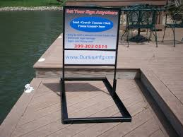 Sign Stands by Dunlapmfg Sign Stands Made In Usa Real Estate Sign Frame Stands