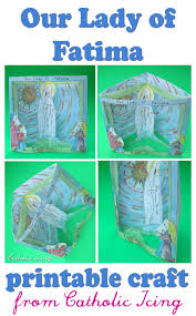 our lady of fatima craft for catholic kids of all ages catholic