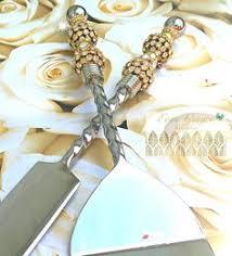 Wedding Gift Knife Set Wedding Cake Server And Knife Set Swarovski Crystal Cake Server