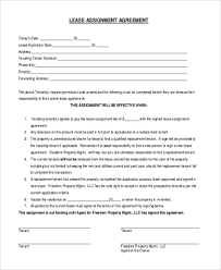 Assignment Form Lease Form Sample 9 Free Documents In Word Pdf