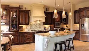 wood kitchen cabinets with white island kitchen with knotty alder wood wall cabinets and white