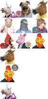halloween 4 mask ebay best 25 animal head masks ideas on pinterest paper mache mask