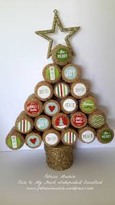 sustainable christmas tree with ctmh christmas treat bags cork