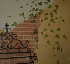 faux licious exposed brick wall tempting thyme