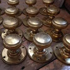 Brass Door Knobs Salvoweb London North U003e Antique Doors U0026 Handles U003e Reclaimed