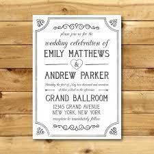 wedding invitation templates download printable vintage style wedding invitation template dark grey