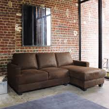 canapé maison canapé d angle droit 3 4 places en microsuède marron canape angle