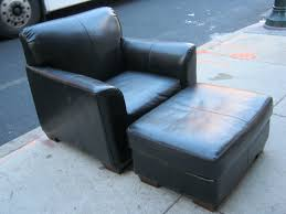 small leather chair with ottoman furniture dark brown leather chair with back and black wooden legs