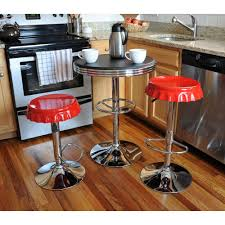 Retro Bar Table Amerihome Retro Style Soda Cap Adjustable Height Multi Colored Bar