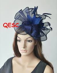 hair accessories melbourne new 9 colors navy blue big sinamay fascinator hat for melbourne