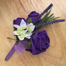 purple corsage purple corsage rosie silk flowers
