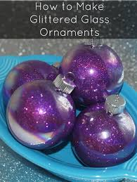 how to make glittered glass ornaments for