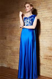sheath one shoulder royal blue dresses for wedding guests two