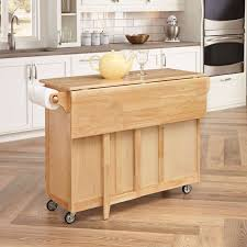 furniture folding wing wwooden movable kitchen island