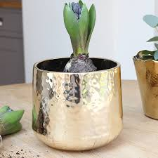 gold hammered planter products planters and gold