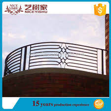 Security Simple Metal Balcony Grill Designs High Quality Wrought