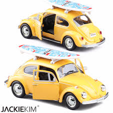 volkswagen yellow car vehicle retro online shop model car toy 1 32 scale yellow red volkswagen beetle