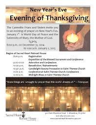 an evening of thanksgiving december 31 2017
