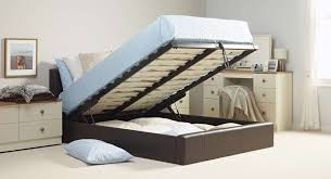 Modern Bed With Storage Bedroom Creative Rectangle Laminated Leather Beds With Storage