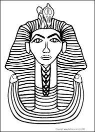 tutankhamun death mask colour clip art library