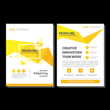 abstract brochure report flyer magazine template template free