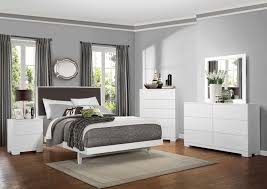 homelegance galva upholstered bedroom collection bright white