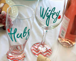 Wine Glass Gifts Personalized Gifts Bride And Groom Bridal Shower Gifts Hubs