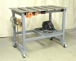 diy welding table plans segmented welding top for cling things to it new welding table