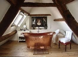 small attic bathroom ideas bathrooms attic bathroom with shiny copper bathtub and small
