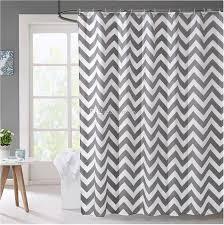 Fashion Shower Curtains 2017 Striped Mildew Free Water Repellent Fabric Shower Curtain