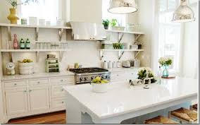 wonderful spring kitchen decor ideas with open shelving and white