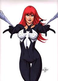 mary jane amazing spider man venom original art scott