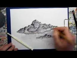how to draw bad weather clouds youtube