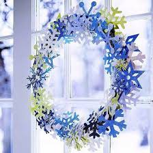 snowflakes craft and decorate the apartment for