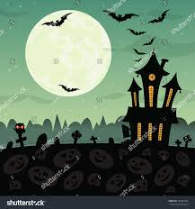owl halloween background halloween party background haunted house graves stock illustration