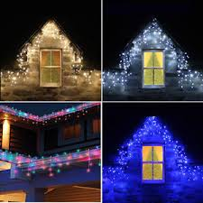 snowing icicle outdoor lights connectable 4m 25m icicle snowing falling christmas outdoor house