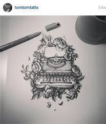 mandala tattoo glasgow typewriter tattoo nice flower cover up with typewriter stencil