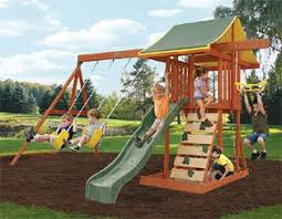 Big Backyard Playsets by Amazon Com Meadowvale Wooden Swing Set Toys U0026 Games