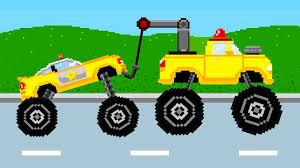 tow truck color ride learn colors police car monster trucks