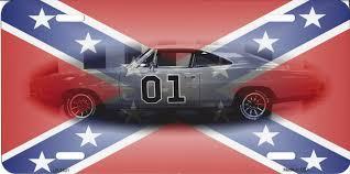 Rebel Flag Ford Confederate Flag Charger Rebel Metal Photo Novelty License Plate