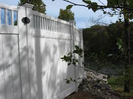 privacy fence vinyl fence for securing a private yard area for