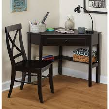 Overstock Corner Desk Simple Living Black Corner Desk And Crossback Chair 2 Study