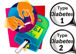 Type 1 and Type 2 diabetes